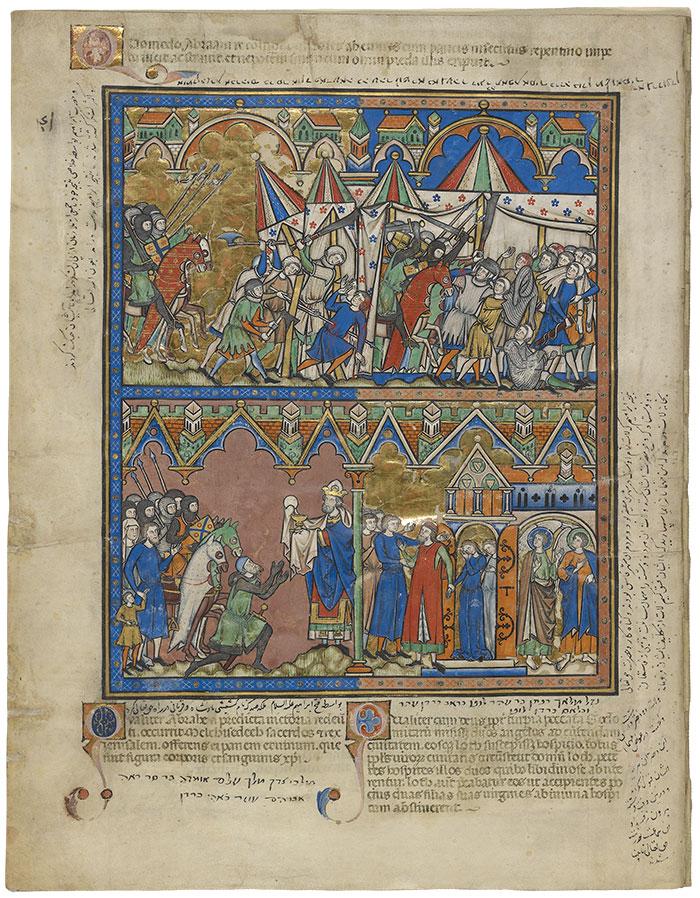 MS M 638, fol  3v | The Morgan Picture Bible | The Morgan