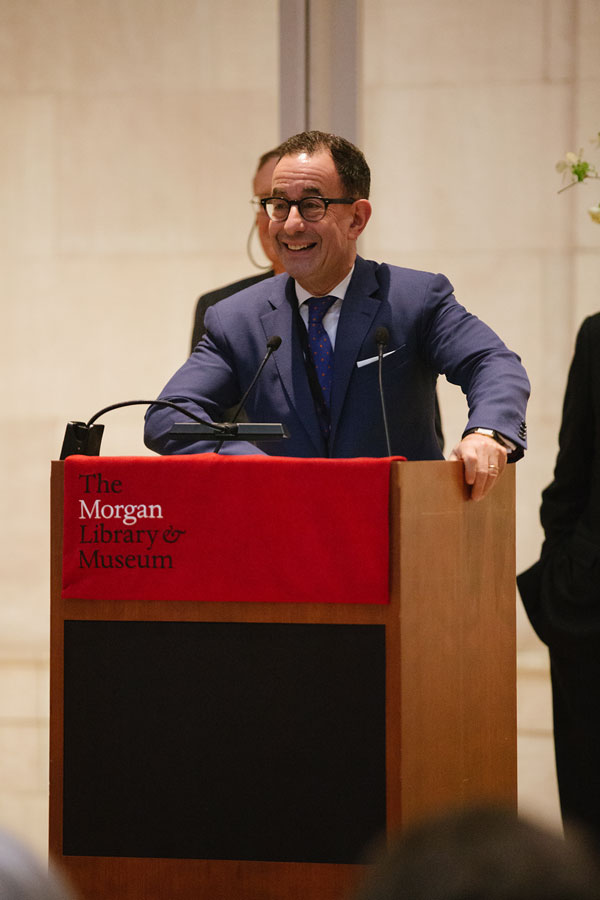 Colin B. Bailey, director of the Morgan, kicks off the celebration weekend. Photography by Da Ping Luo.