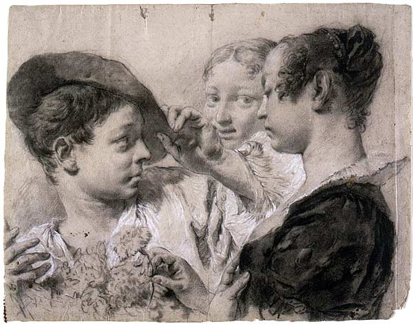 Image of Giovanni Battista (Giambattista) Piazzetta drawing