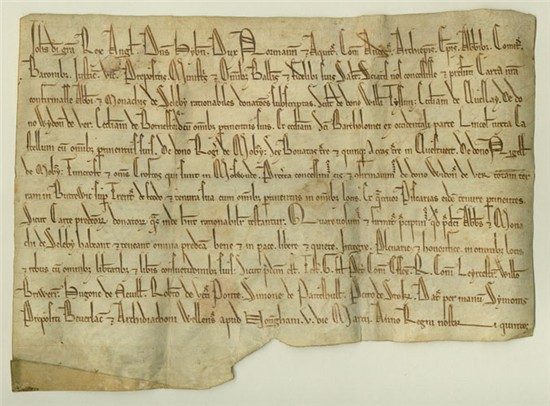 Selby Charter, 1205 (Pierpont Morgan Library, MA 746)