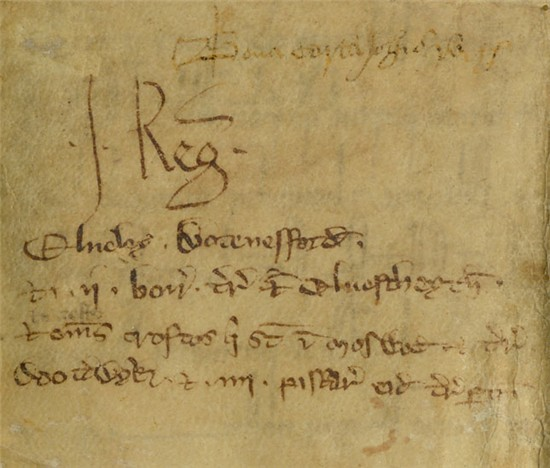 Selby Charter, 1205 (Pierpont Morgan Library, MA 746, detail)