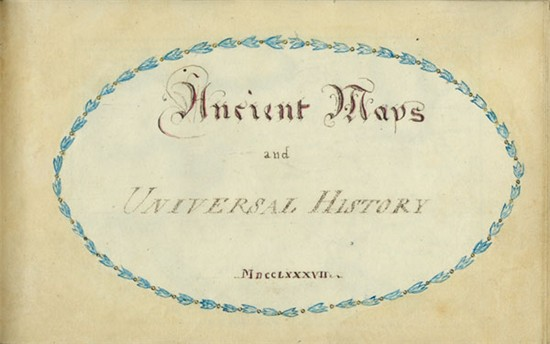 W. B. Sandys. Ancient Maps and Universal History (MA 4262)