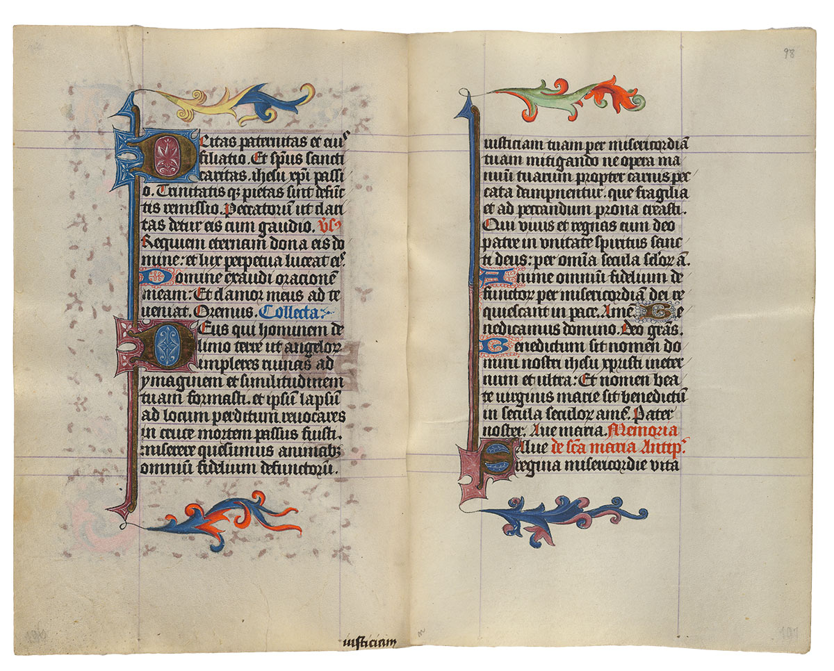 MS M 917/945, ff  97v–98r   The Hours of Catherine of Cleves