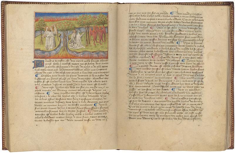 Ms M 461 Fols 60v 61r Livre Des Merveilles Du Monde