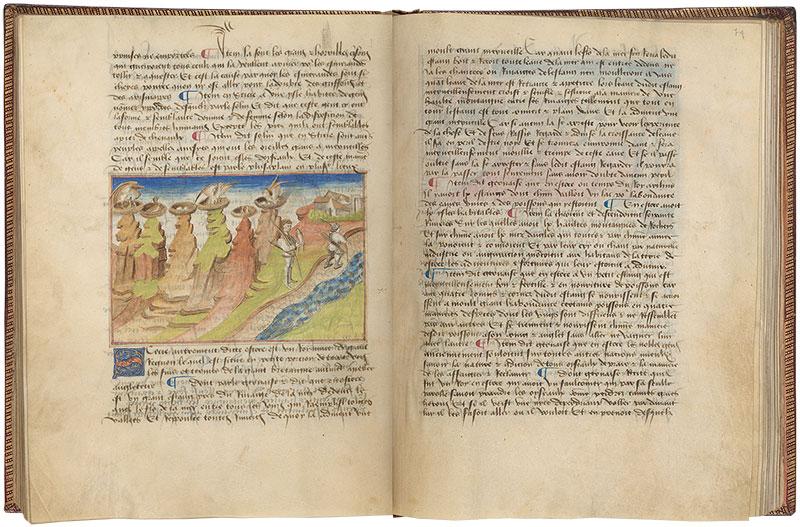 Ms M 461 Fols 73v 74r Livre Des Merveilles Du Monde