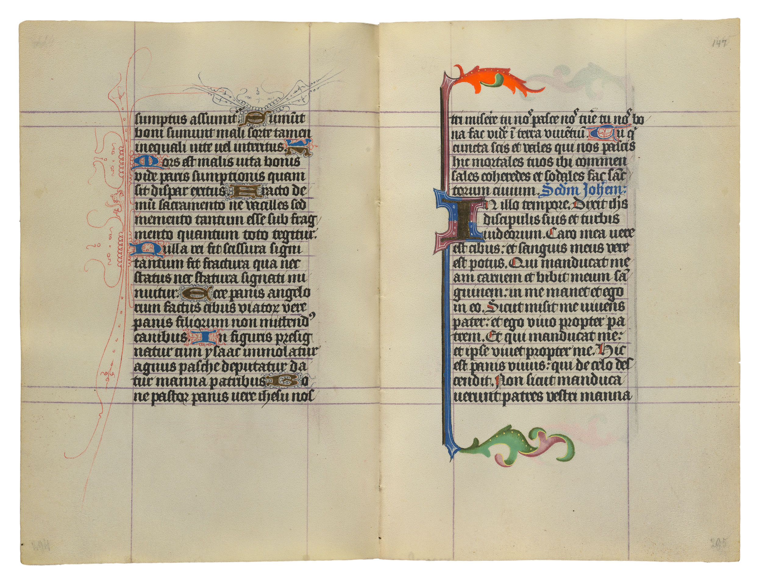 WWW_147N_COM_MSM.917/945,ff.146v–147r|TheHoursofCatherineofCleves|TheMorganLibrary
