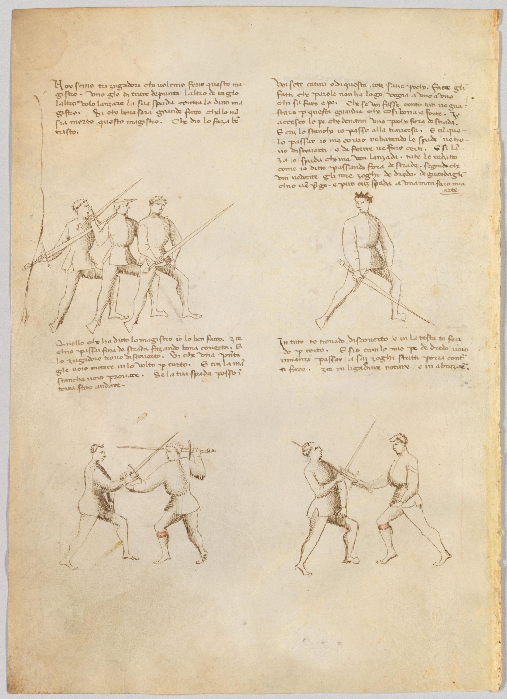 MS M 383 fol  17v   Il Fior di Battaglia: A Renaissance Fighting