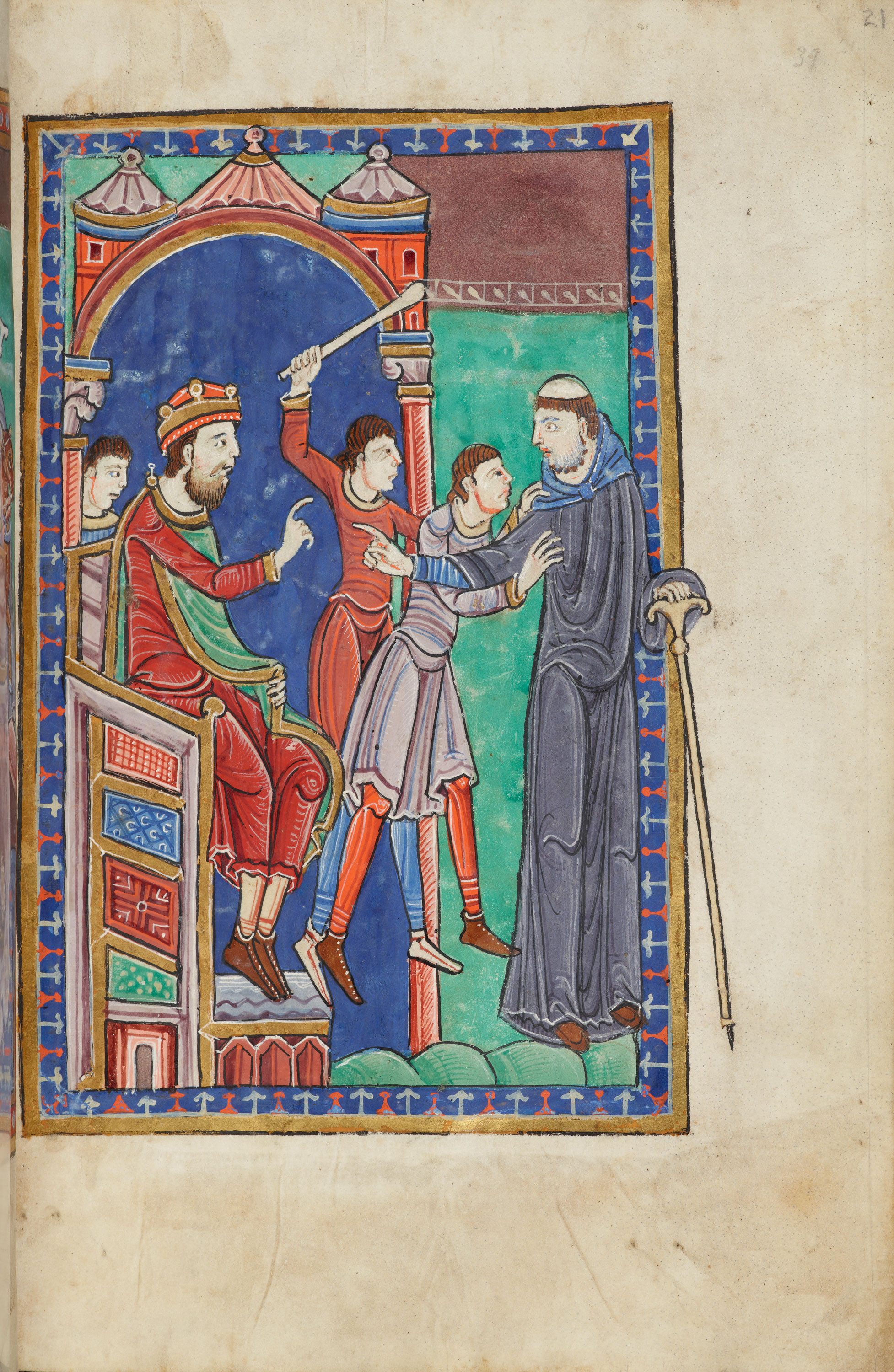 ms fol 21r the life and miracles of st edmund. Black Bedroom Furniture Sets. Home Design Ideas