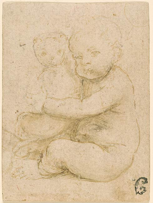 After Leonardo Da Vinci Seated Child Holding A Cat