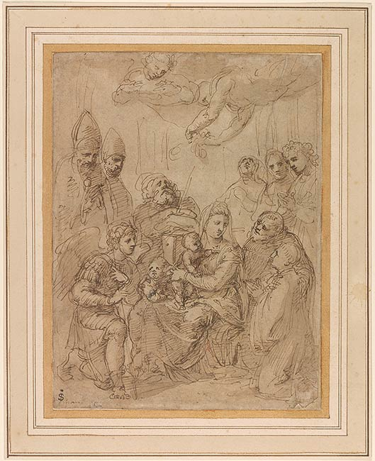 Baldassarre Peruzzi | Holy Family with Saints | Drawings