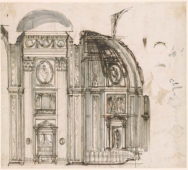 Giovanni Battista Piranesi Section Through Choir Of San