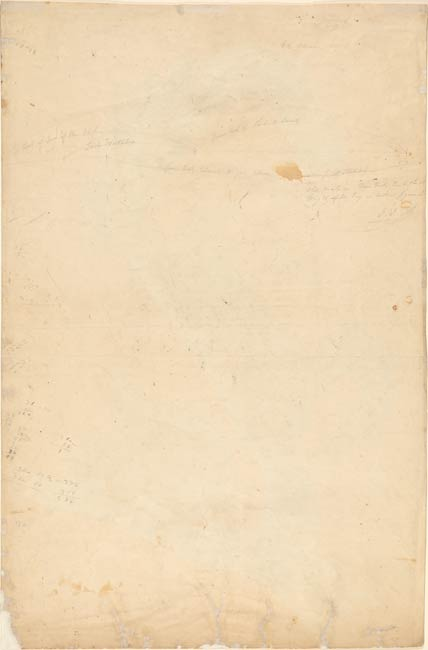 John James Audubon Eastern Gray Squirrel Verso Sketch Of A Tail With Inscriptions Drawings