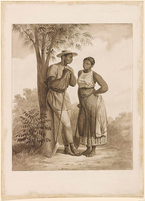 Black Couples Drawings Johann Moritz Rugendas