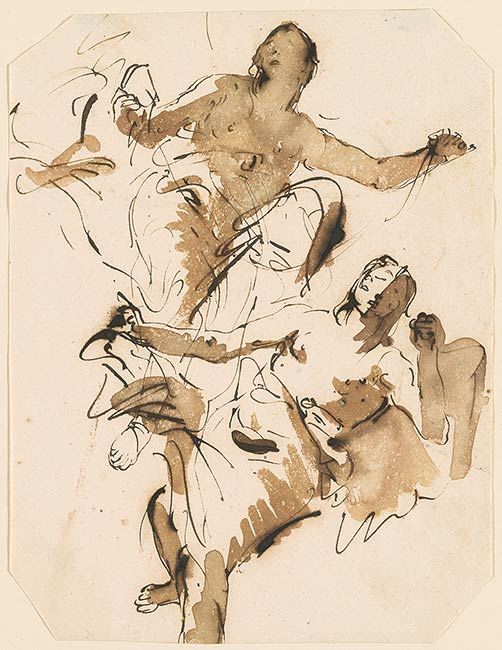 Giovanni battista tiepolo two female figures flying for Define baroque art