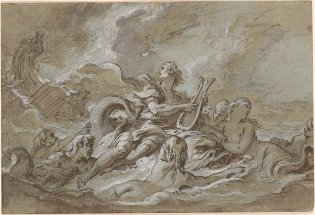 Fran 231 Ois Boucher Arion And The Dolphin Drawings Online