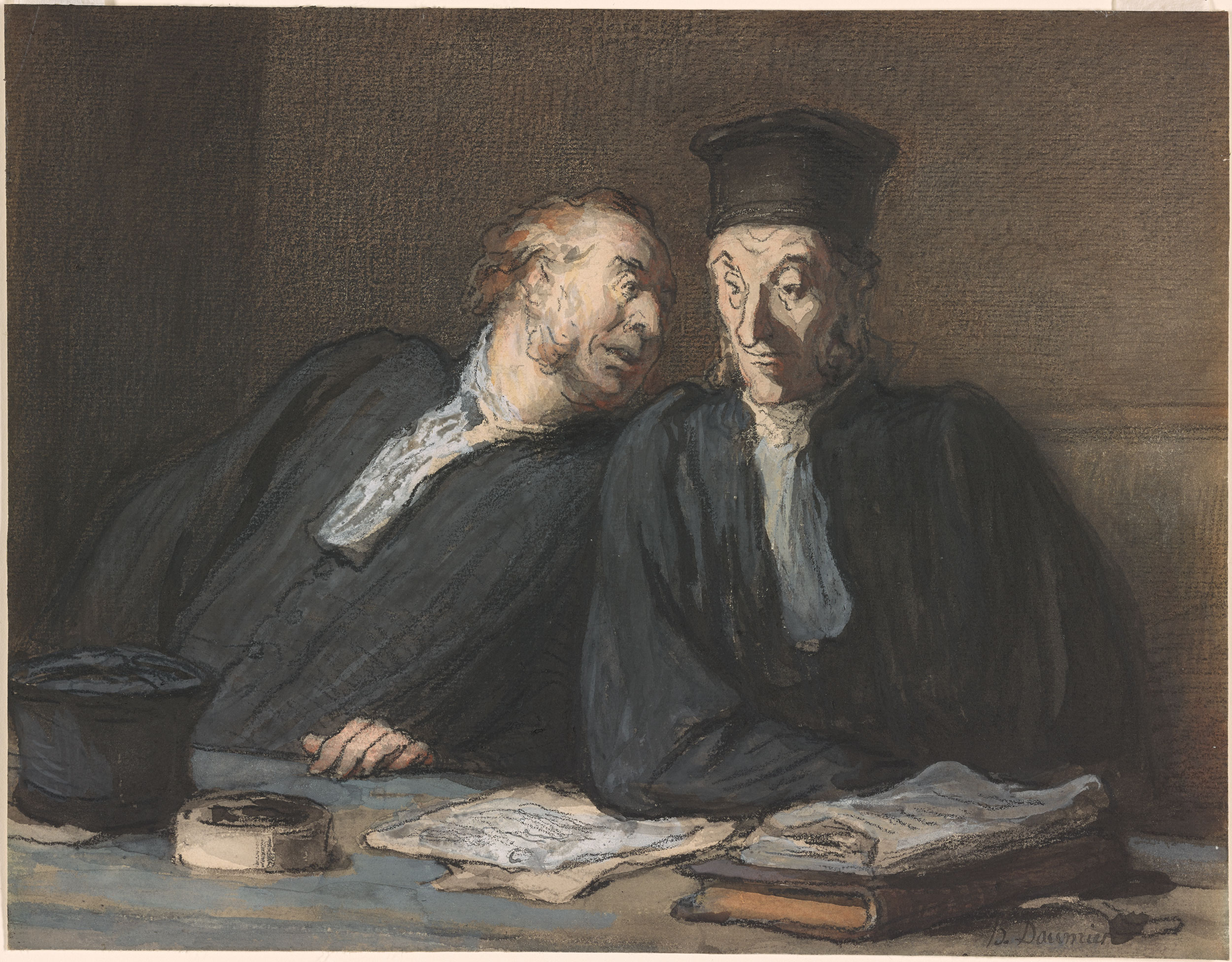 Honor 233 Daumier Two Lawyers Conversing Drawings Online