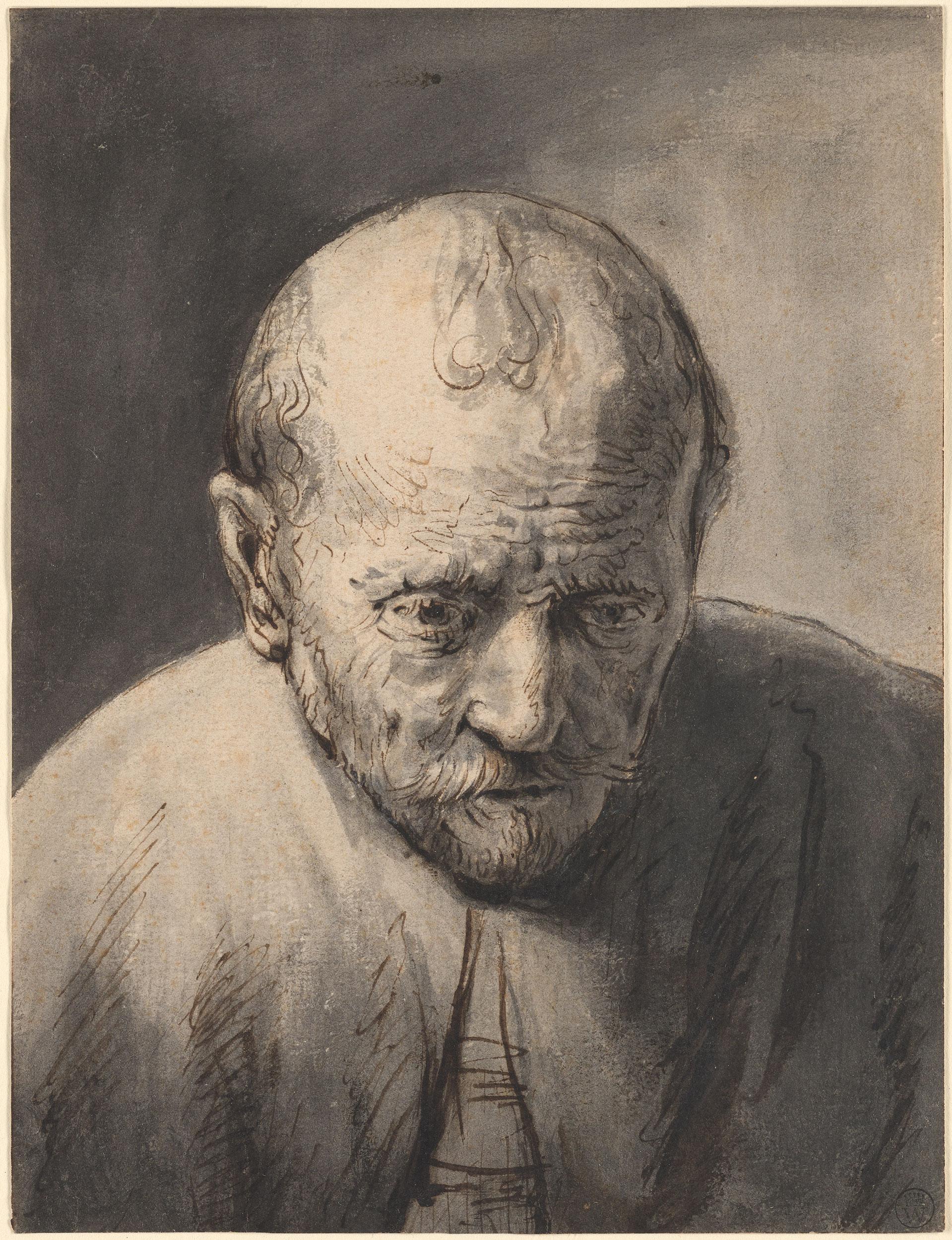 After The School Of Rembrandt Harmenszoon Van Rijn Bust