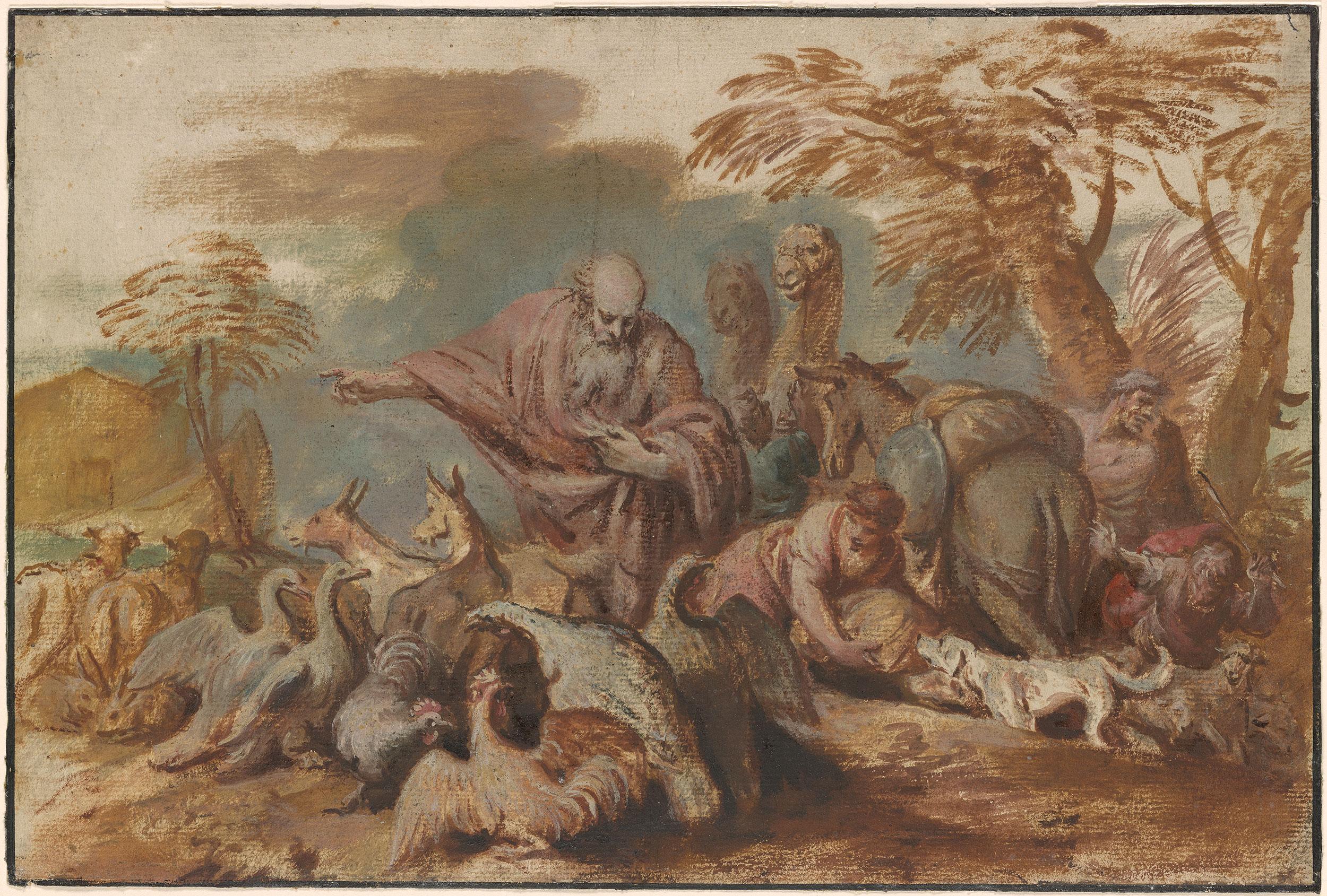 Giovanni Benedetto Castiglione Noah Leading The Animals