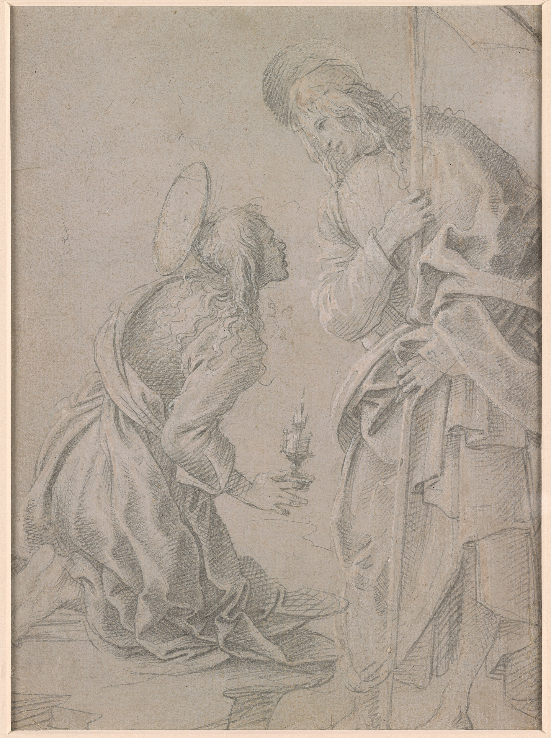 Filippino Lippi Kneeling Saint Mary Magdalene And