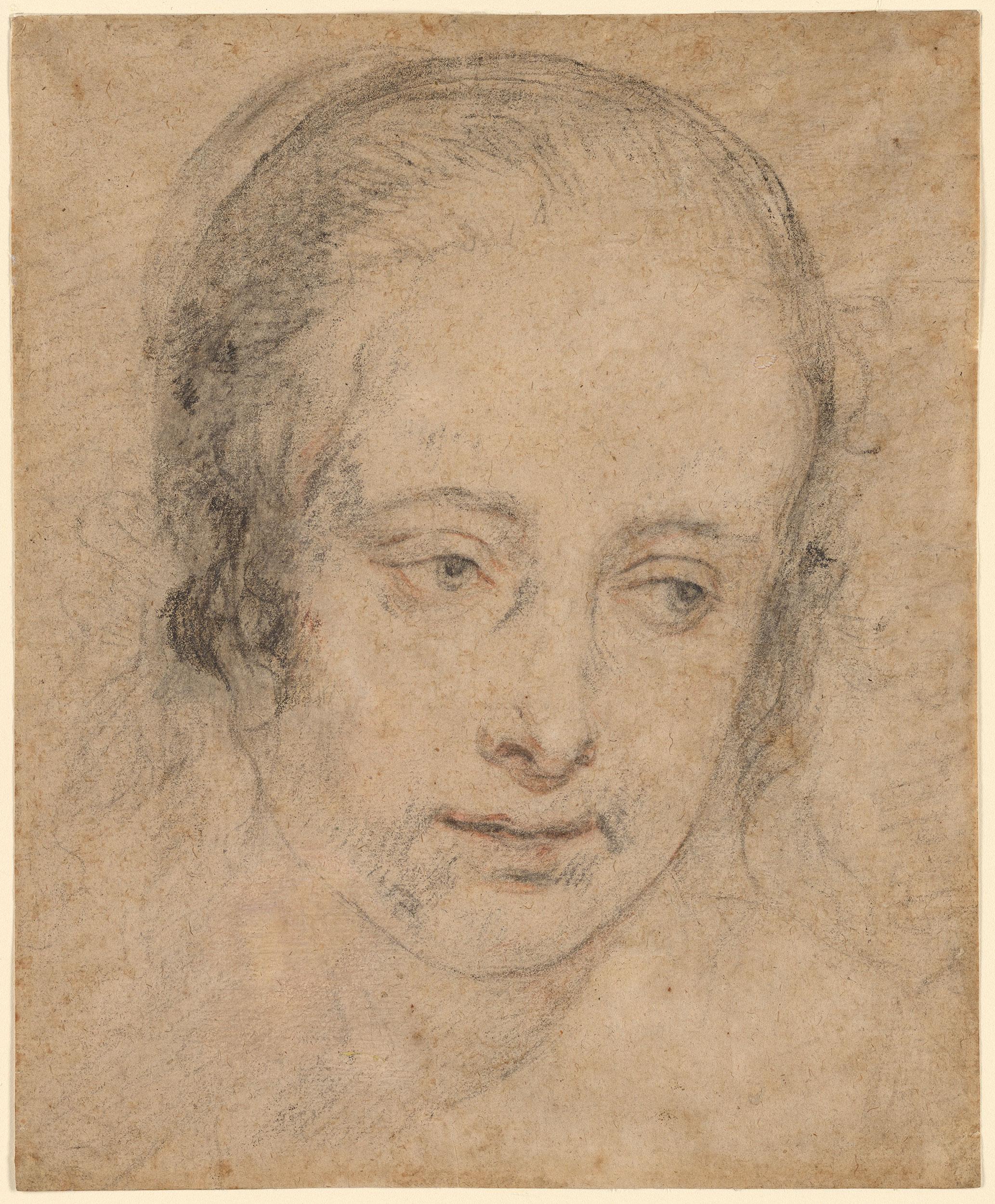 Circle Of Peter Paul Rubens Study Of A Woman S Head