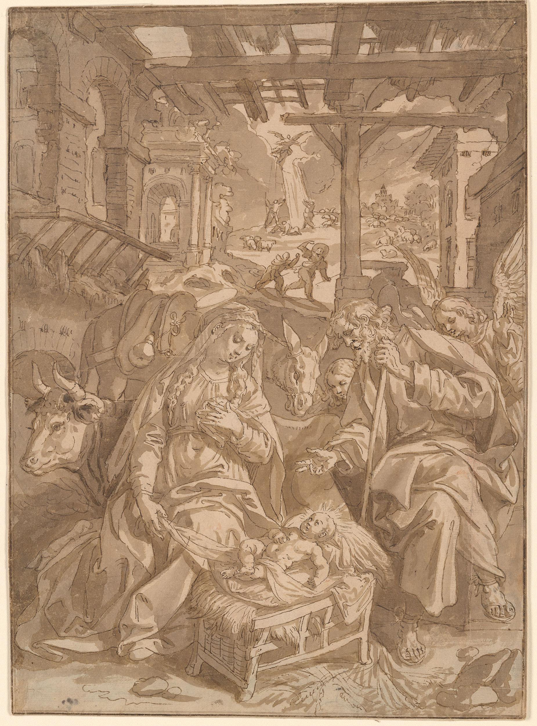 Maarten De Vos The Nativity Drawings Online The