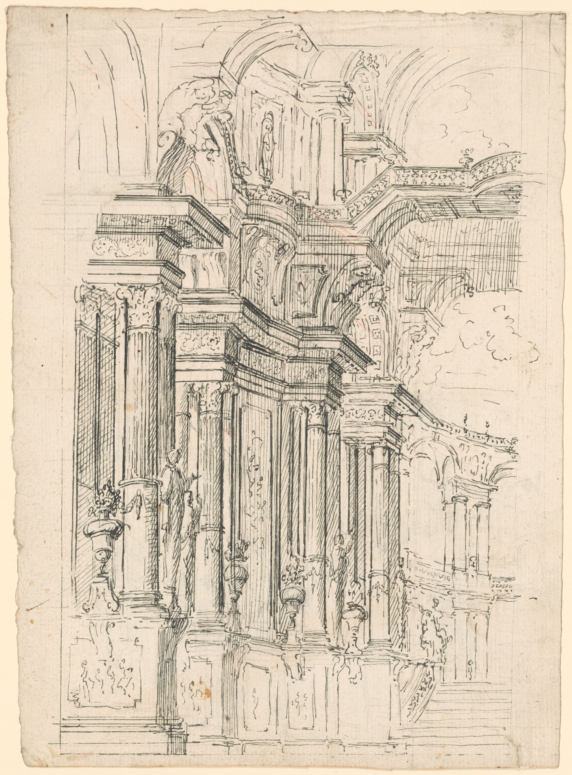 Medieval Architecture Drawing