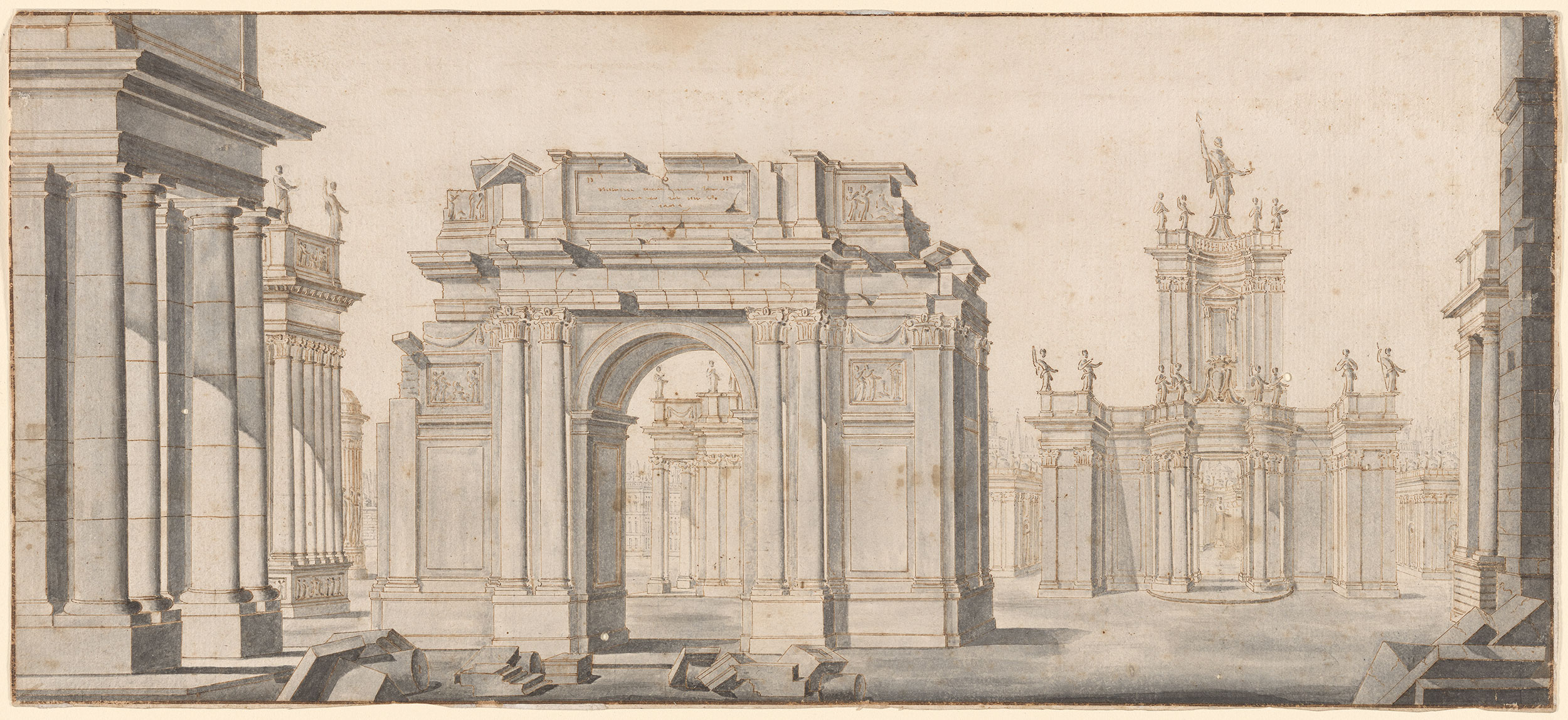 Luigi vanvitelli a classical architectural vista for Architectural drawings online