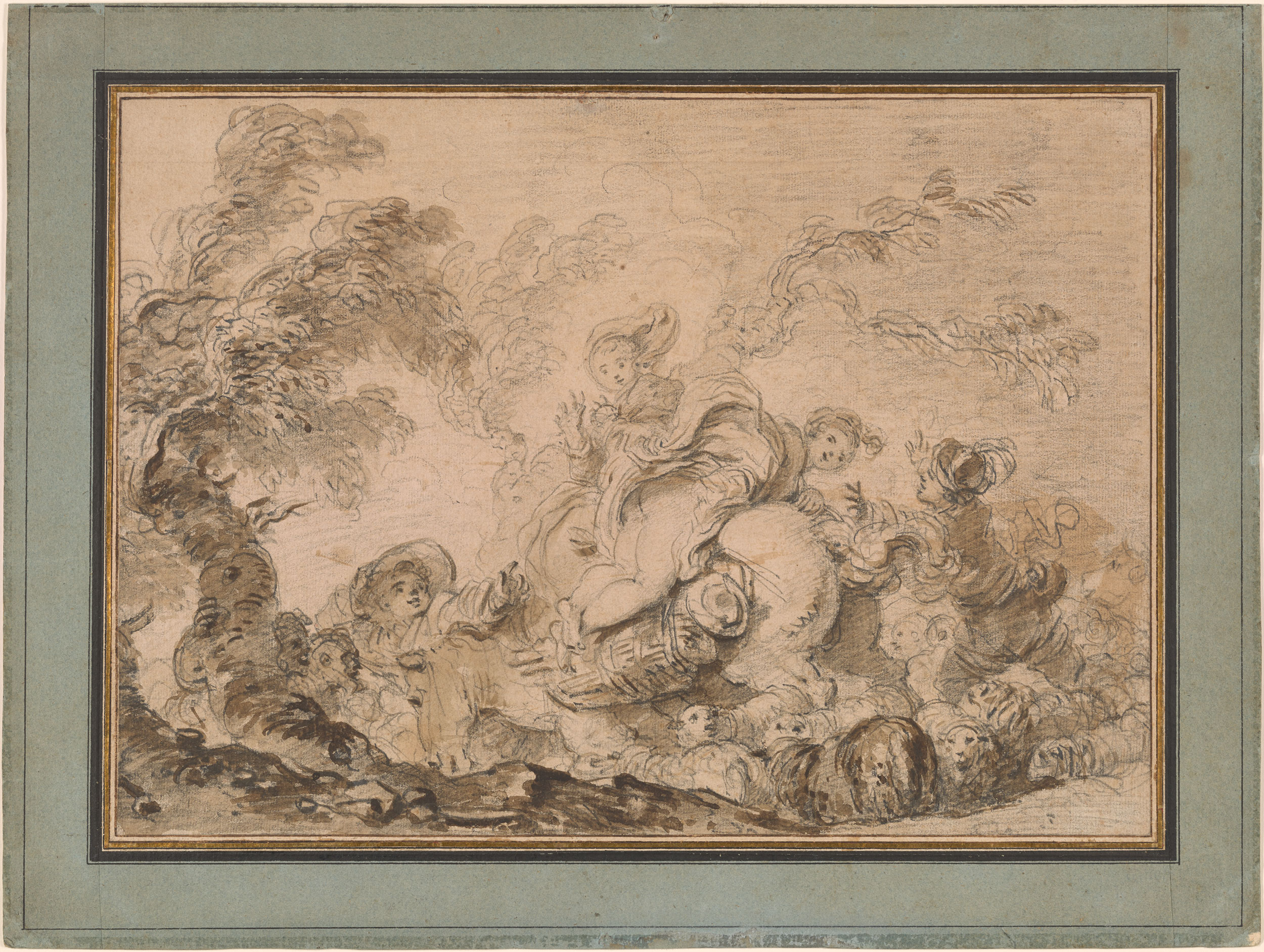 Jean Honor 233 Fragonard The Sudden Gust Of Wind Drawings