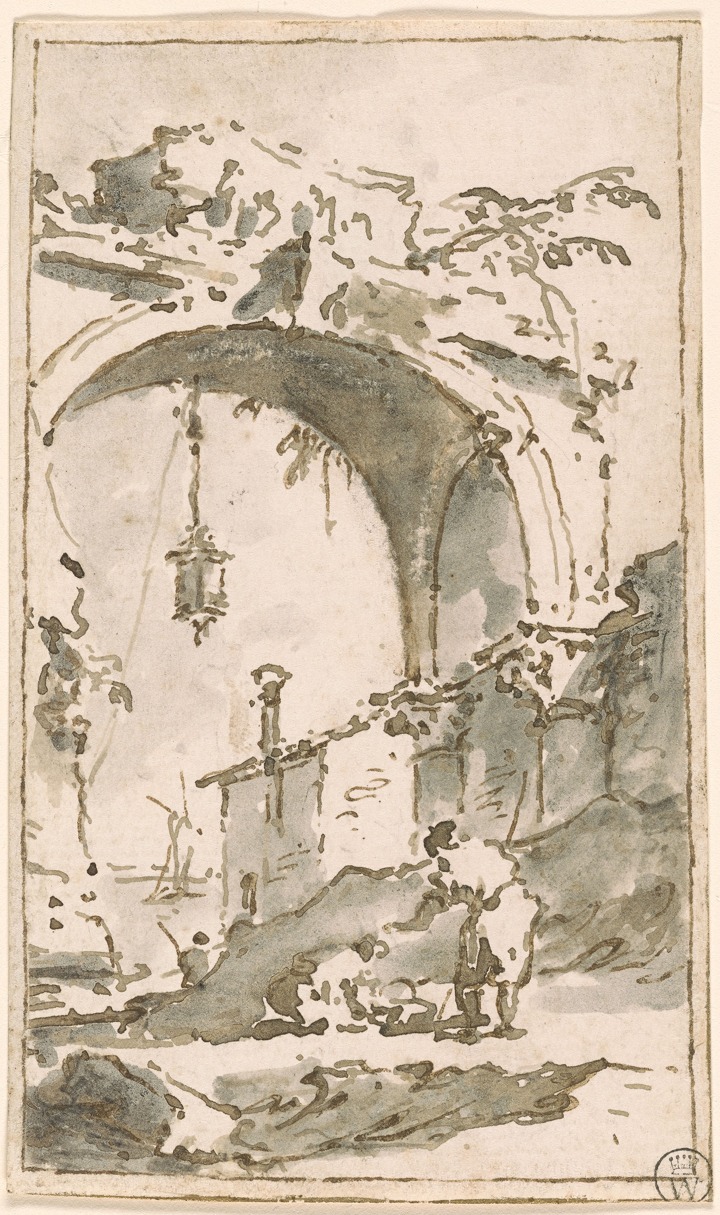 Francesco Guardi Lanscape With Arch In Ruins Drawings