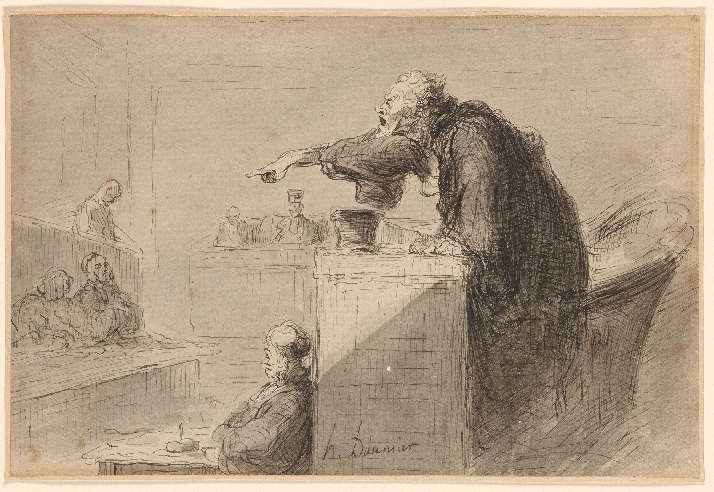 Honor 233 Daumier Accusation Drawings Online The Morgan