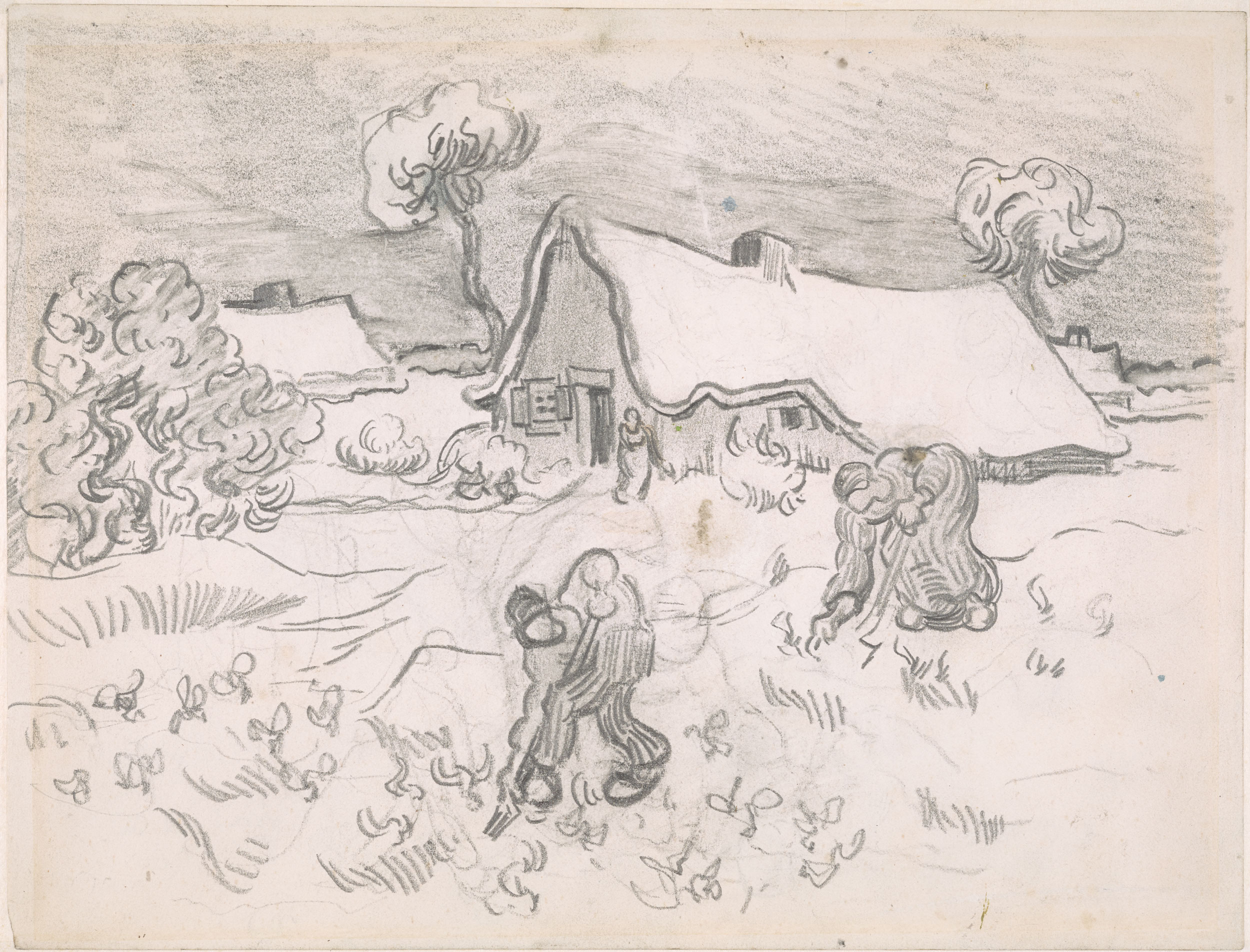 vincent van gogh saintr233my workers in the field verso