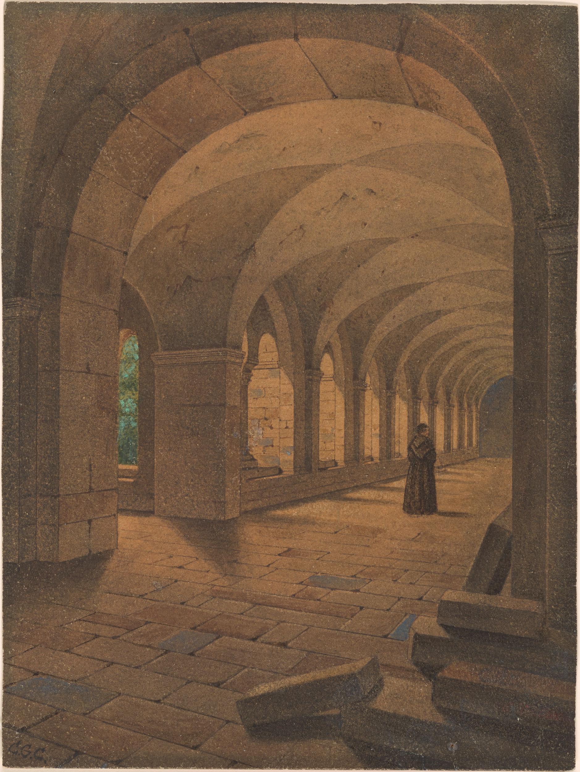 Carl Gustav Carus Roman Cloister Drawings Online The