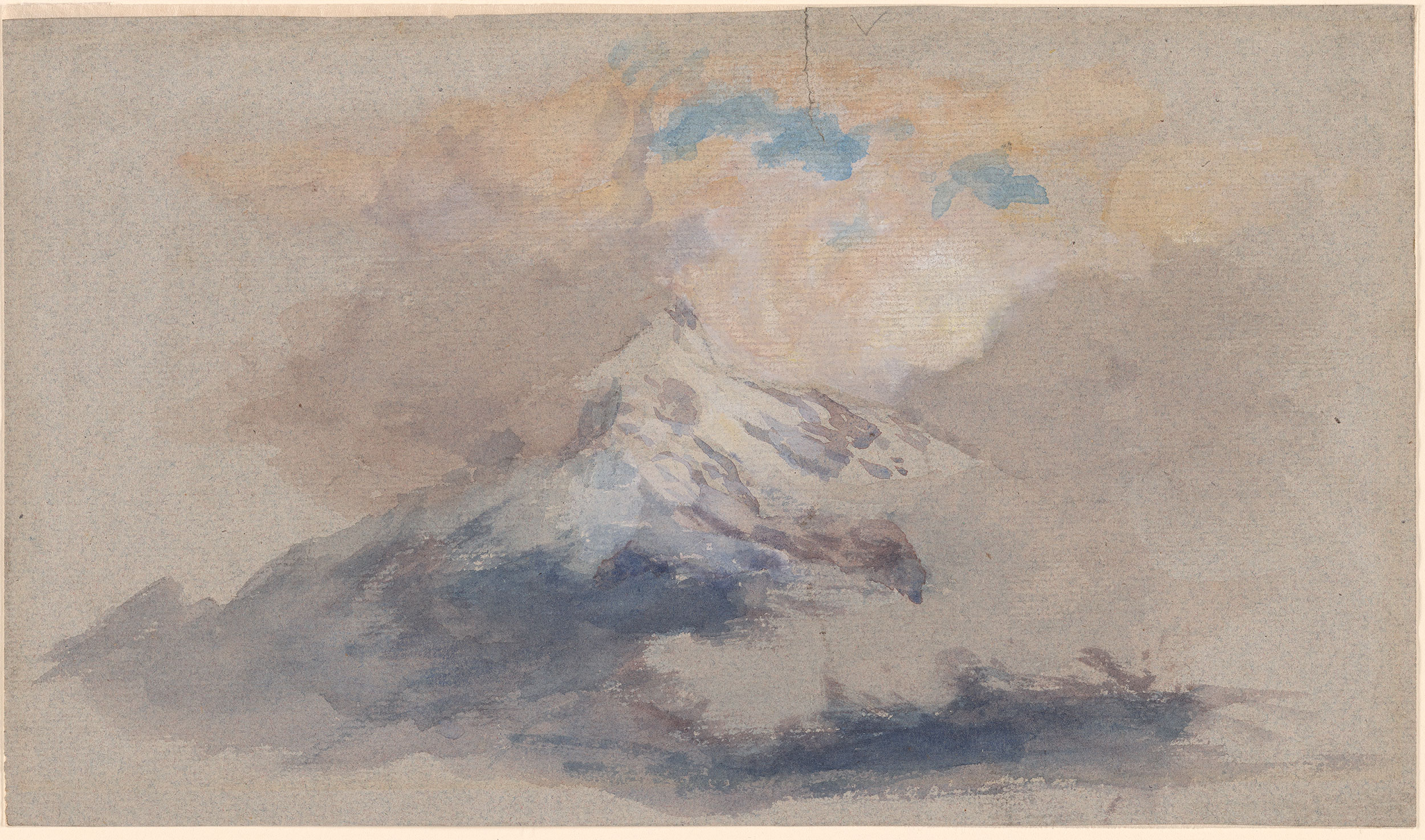 John Ruskin Mountains With Clouds Drawings Online