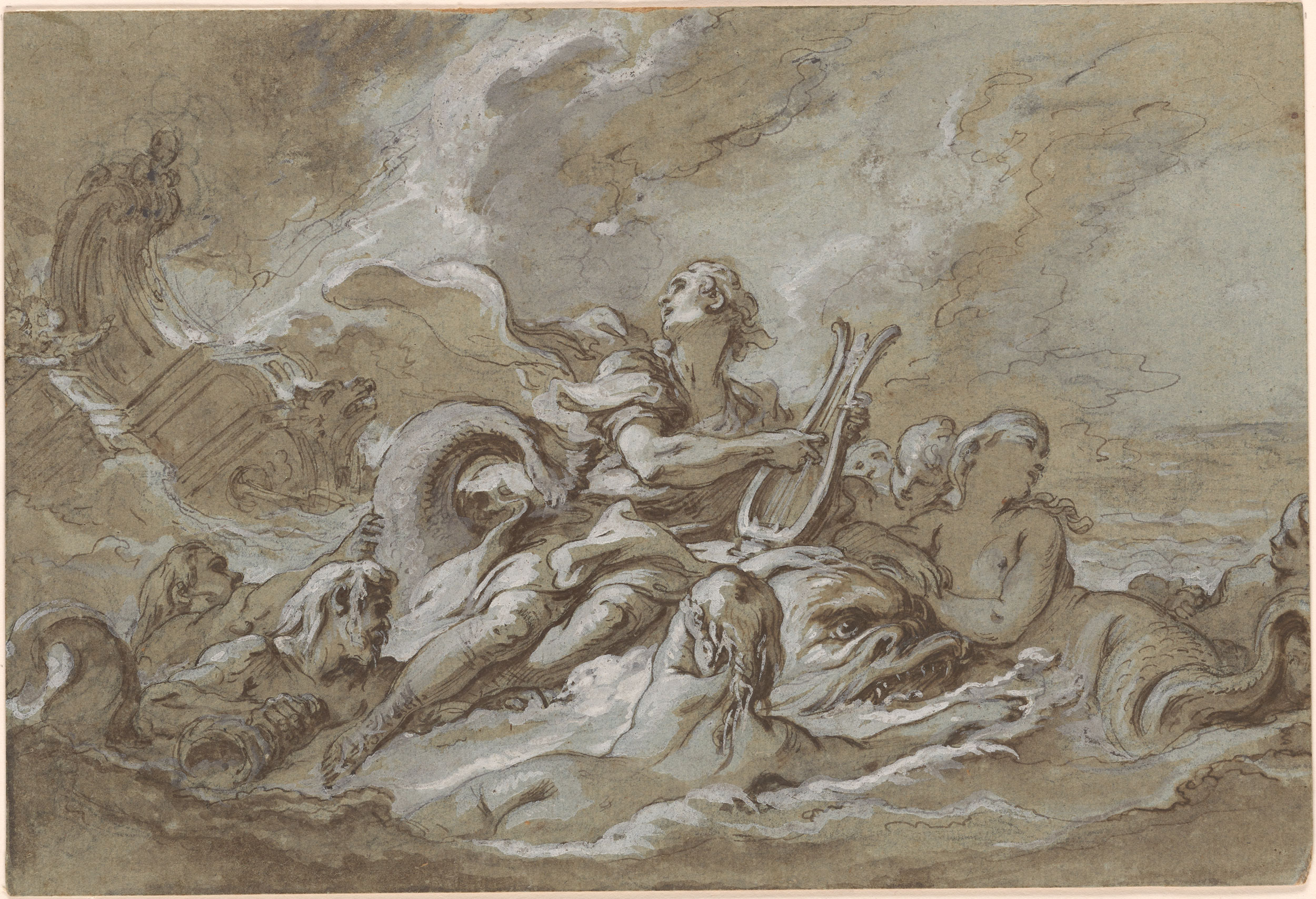 fran231ois boucher arion and the dolphin drawings online