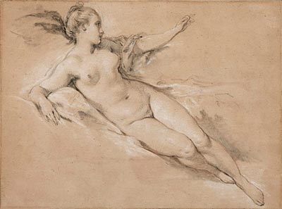 Image of Reclining Nude with Outstretched Arm