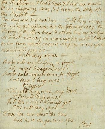Image of Auld Lang Syne manuscript