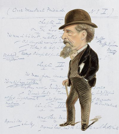 Image of Caricature of Charles Dickens