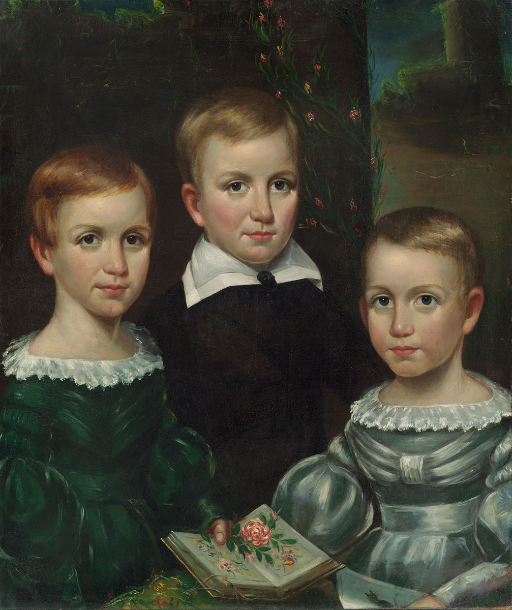 Image of Emily Elizabeth, Austin, and Lavinia Dickinson portrait