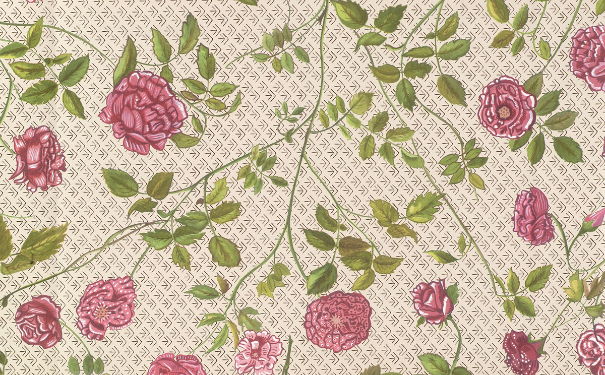 The floral wallpaper from Emily Dickinson's bedroom