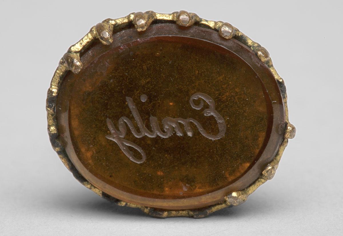 Photo of Swinging seal engraved Emily