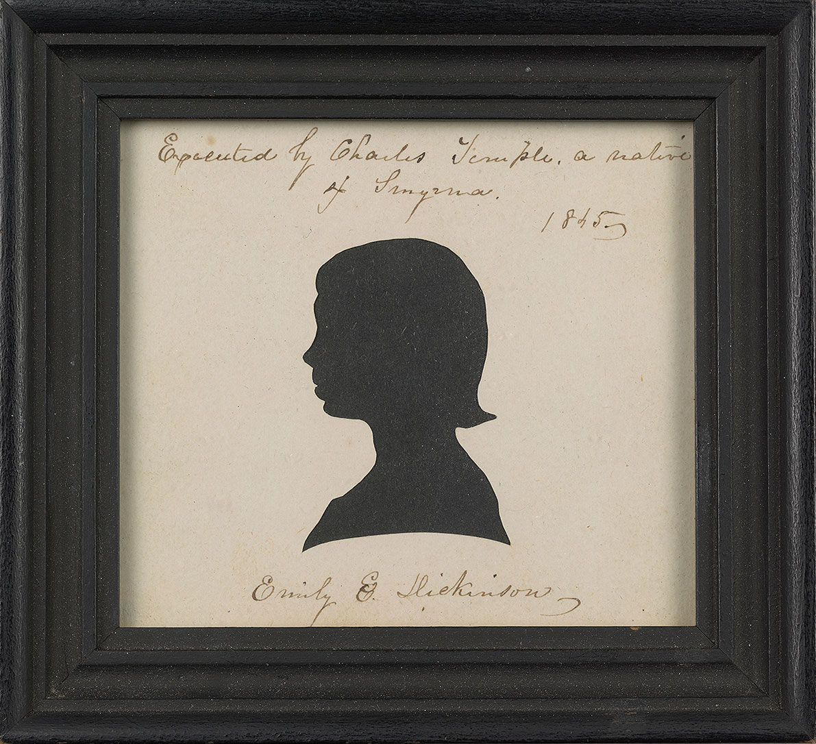 Emily Dickinson, Cut paper silhouette