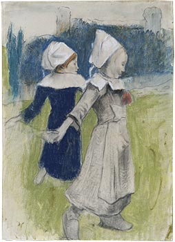 Image of Study for Breton Girls Dancing
