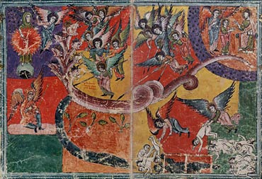 Image of Woman Clothed in the Sun and the Defeat of the Seven-Headed Dragon