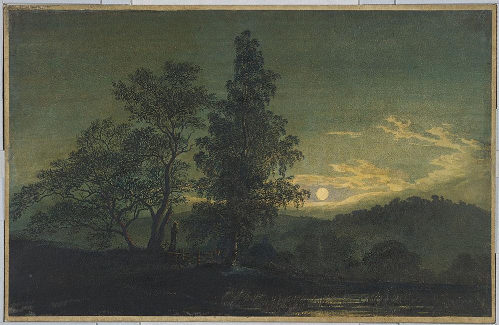 Image Of A Childs Moonlit Landscape Art Project