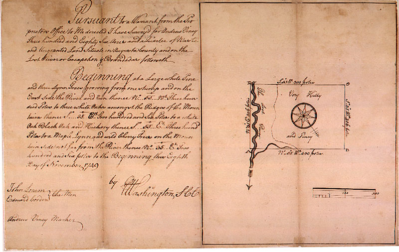 Image of George Washington survey