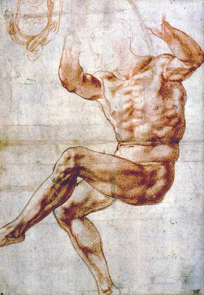 Image of Michelangelo drawing