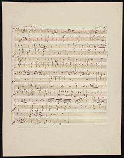 Music exercise book with manuscript