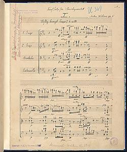 Webern, Anton | Sätze, string quartet, op  5 | Music