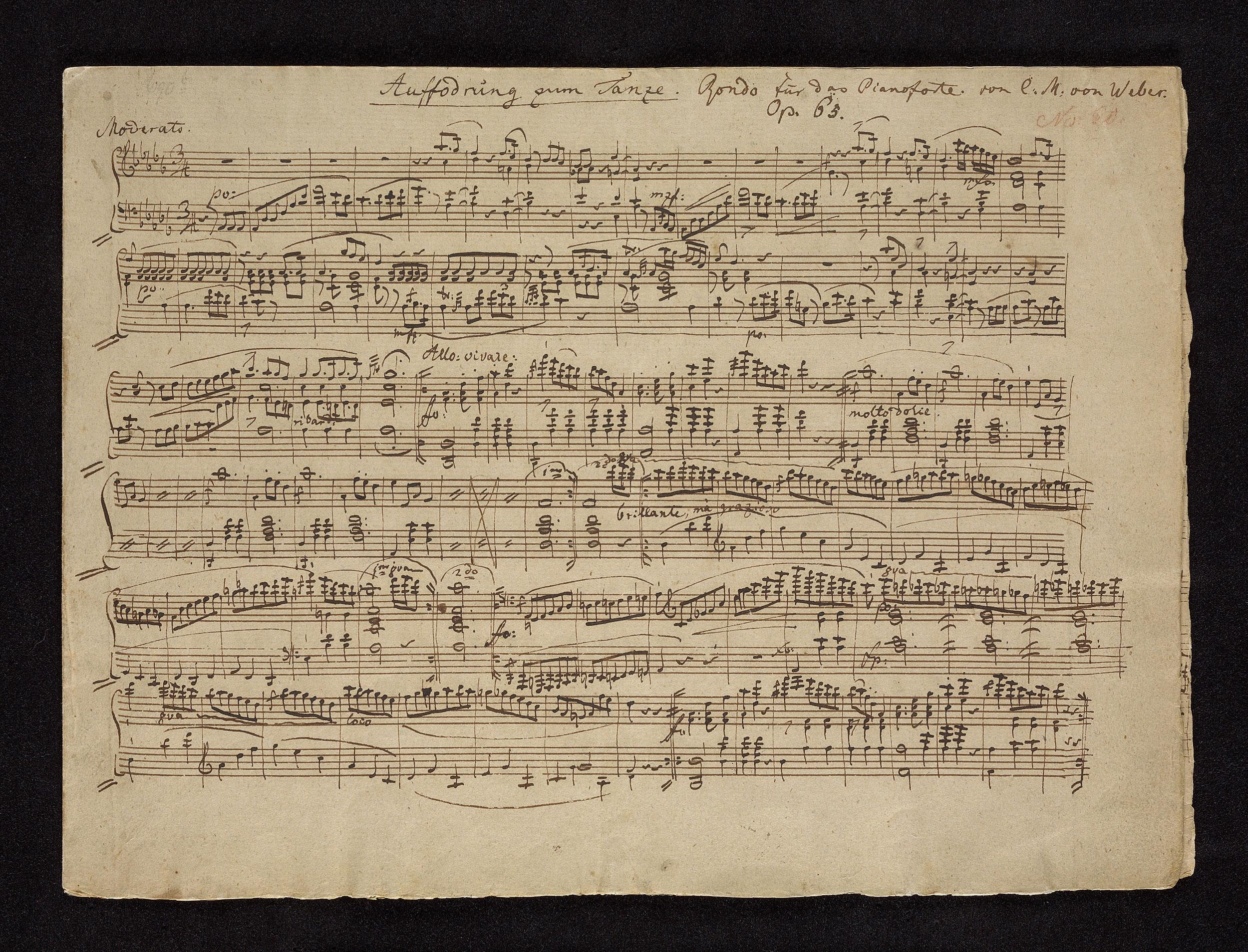 Weber, Carl Maria von | Aufforderung zum Tanze | Score, p  [1] | The