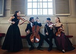 Diderot String Quartet. Photography by Tatiana Daubek